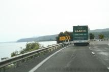 Lastbil som vi följde flera mil