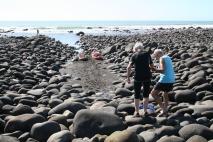 Svårt att gå på glatta stenar