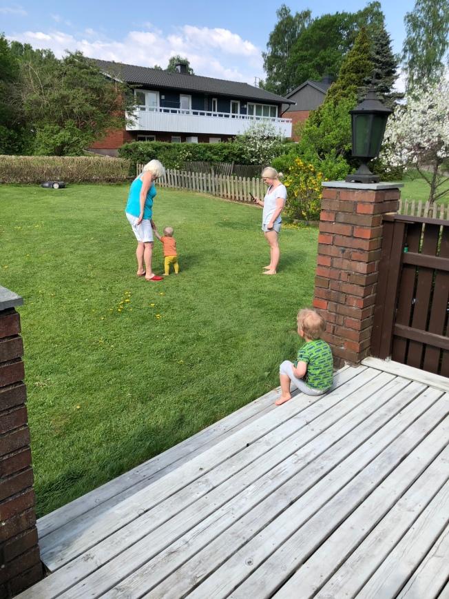Besök av Hanna med barn i Lindome