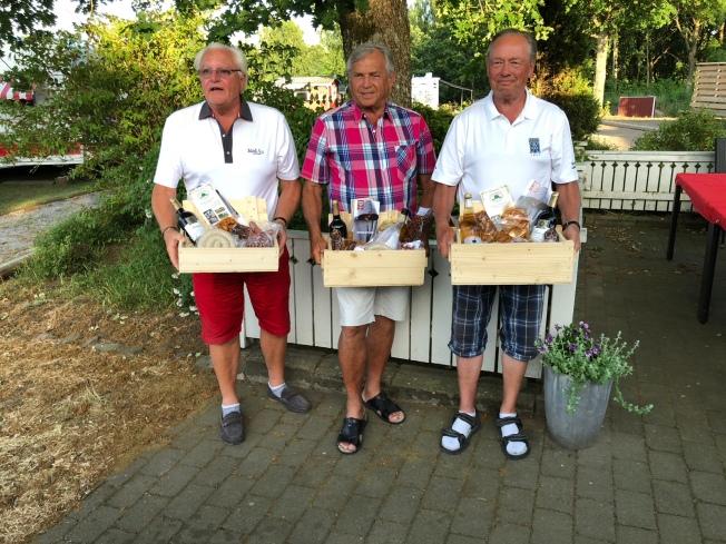 Tre glada vinnare